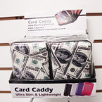 "3"" X 4"" Hard Plastic Case Card Caddy Wallet $100 Prints 12 per unit .60 ea pc"