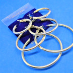 3 Pack Gold Tube Style Hoop Earrings Hypo Allergenic  .54 per set