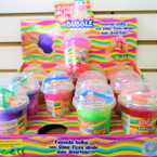 "4"" Slushy Cup Tri Color Slime  12 per display bx .92  each"