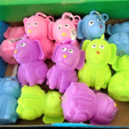 "Asst Color 4"" Cute Dog Light Up Puffer Balls 12 per display .62 ea"