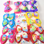 "4 Pack 3"" Baby Shark 2 Layer Gator CLip Bows .54 per set"