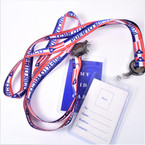 "34"" Puerto Rico Flag Theme  Retractable ID Card Lanyards .54 each"