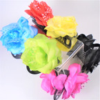 "4"" DBL Flower Jaw Clips 6 Mixed Colors   .56 each"