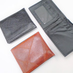 Textured  Pattern Black & Brown Men's Bi Fold Wallets (43)  12 per pk .62 each
