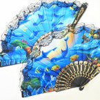 "9"" Lace Hand Fans Under the Sea Theme  .56 each"
