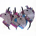 Popular Crystal Stone Unicorn Theme Headbands 12 per pk  .54 each