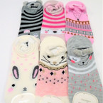 Cute Cat Theme Slip On Short Socks  Mixed colors .54 per pair