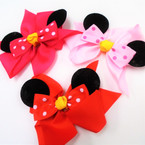 "5.5"" X 7"" Multi Layered Bow w/ Mouse Ears 3 colors .54 each"