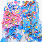 "5"" Cute Shark Theme Gator CLip Bows w/ Cry. Stone Center .54 each"