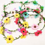 Asst Color Flower Halo w/ Wire  (152) .56 each