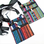 "4"" X 6"" Baja Print 2 Zipper Side Bag w/ Adj. Strap 12 per pk  .60 each"