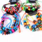4 Line Handmade Beaded Cord Bracelets .54 each