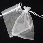 "5"" X 7"" White See Thru Lace Jewelry/Gift Bags 36 per pk  .18 each"