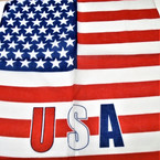 "21"" Square New Style USA Flag Bandana 12 per pk .52 each"