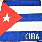 "21"" Square CUBA Flag Bandana 12 per pk .55 each"