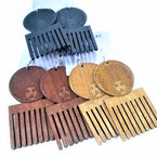 "3"" Wood Hair Pick w/ Lady Head Fashion Earrings 3 colors .54 per pair"