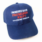 Promises Made Promises Kept Trump 2020 Caps NAVY sold by pc $ 2.50 each