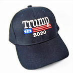 Trump 2020 Baseball Caps All Black sold by pc $ 2.50 per hat