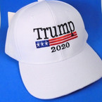 Trump 2020 Baseball Caps All White  sold by pc $ 3.00 per hat