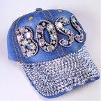 BOSS Theme Stone Baseball Caps Dark Denium sold by pc $ 4.25 each