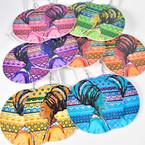 "3"" Colorful Elegant Women w/ Turbin Theme Wood Earrings  .54 per pair"