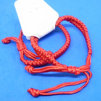 2 Pack All Red Macrame Bracelets .54 per set