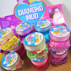 "2.5"" X 2.75"" Diamond Mud Cute Shark Theme w/ Glitter SLime 12 per bx .58 each"