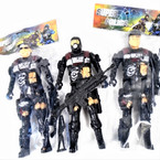 "8"" Super Police Action Figures Mixed Styles 12 per pk  .58 each"