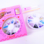 Nail Art Decoration Kit w/ Glue 12 per pk .54 per set