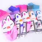 Cute  Bunny Theme Slip On Short Socks  Mixed colors .54 per pair