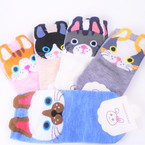Too Cute Cat Theme Slip On Short Socks  Mixed colors .54 per pair