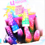 "5.5"" Multi Color Unicorn Horn Twist Slime 12 per display bx .65 each"