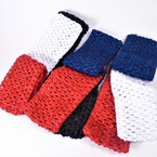 "School Color 2.5"" Crochet Stretch Headbands 4 colors as shown .52 per set of 3"