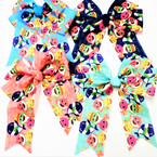 "5"" X 6"" Cute SHark Print Tail Gator Clip Bows .54 each"