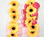 "5"" Gator Clip Bows w/ Yellow Sunflower Center .54 each"
