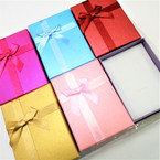 "3"" X 4.25"" Gift Boxes w/ Ribbon & Insert 6 solid colors .54 each"