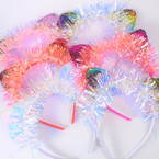 Change Color Sequin Cat's Ear Headbands w/ Tinsel  .54 each
