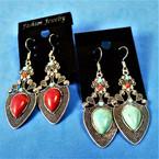 "2"" Fish Hook Earrings Southwest Look 2 colors .54 per pair"