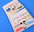 Value Buy 12 Pair Mixed Fashion Stud Earrings .54 per set
