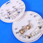 Value Buy 8 Pair Gold/Silver Mixed Fashion  Earrings .54 per set