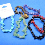 5-6MM Semi Precious Stone Stretch Bracelets Asst Colors .58 each