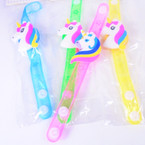 Multi Function Flashing Kid's Unicorn Bracelets 12 per pk .56 ea