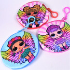 Cute Little Angel Girl Soft Coin Purse w/ Clip .54 each