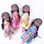 """6"""" African American Doll Keychains w/ Fancy Outfit  .58 each"""