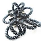4 Pack All Black Phone Cord Look Ponytailers/Bracelet .54 per set