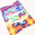 "Trending Tye Dye  3"" Stretch Headband  Multi Pattern Print (732)   .54 each"