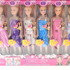 "9"" Sweet Girl Dolls Mixed Clothes Styles 12 per pk ONLY .65 each"