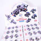 Police 6 in 1 Theme DIY Block Set 12 per display Mixed Styles .58 ea