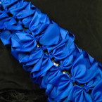 "8"" Jumbo Gator Clip Bow All Royal Blue  .55 each"