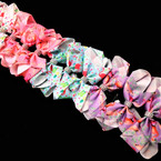 "5.5"" Flamingo Theme Gator Clip Bows w/ Cry. Stone Center  .54 ea"